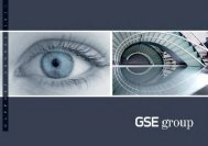 GSE Group . RAPPORT ANNUEL 2011