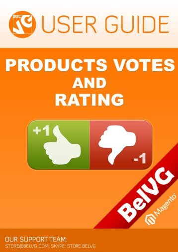 Products Votes and Rating User Guide - BelVG Magento Extensions ...