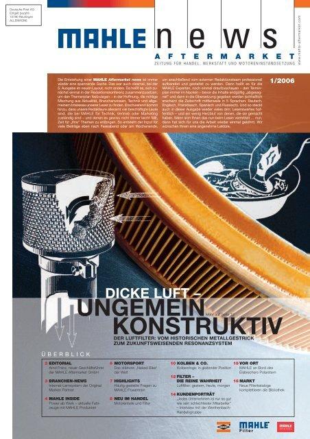 MAHLE news 3/05 Helvetica