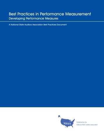 Developing Performance Measures - NASACT