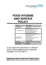 Food hygiene and service policy.pdf - NHS North Somerset