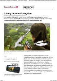 Berner Oberländer_3. Rang für den ... - Jungfrau Region