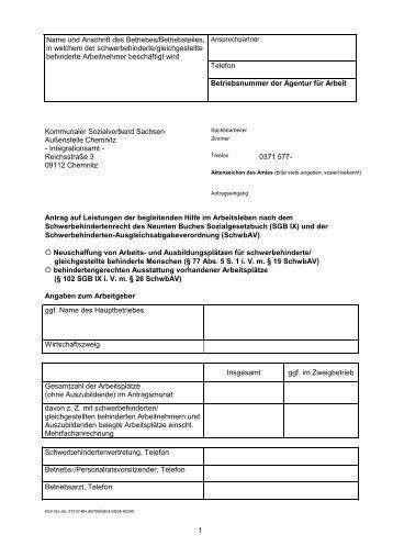 Name und Anschrift des Betriebes/Betriebsteiles - REHADAT ...