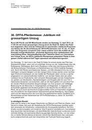 30. OFFA-Pferdemesse - Energie - Kongress