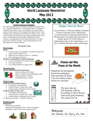 World Language Newsletter May 2013