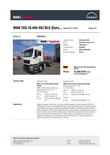 MAN TGS 18.440 4X2 BLS (Euro... State 21 10 2012 -  MAN TopUsed