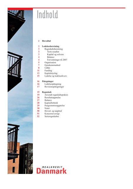 Årsrapport 2006 - Realkredit Danmark