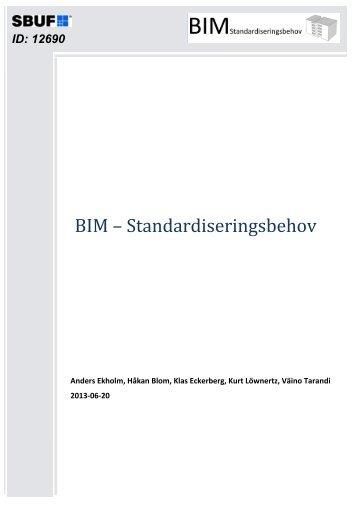 BIM – Standardiseringsbehov - OpenBIM