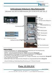 Arthroskopie-Videoturm (Neu/Gebraucht) - Handke Medizintechnik