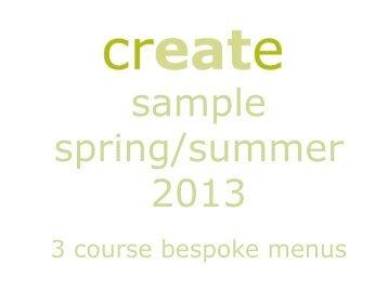 sample springsummer dinner menus starters seared