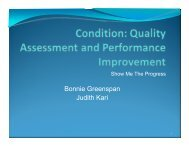 Quality Assessment and Performance Improvement - Network 6