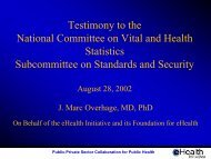 are Clinical Settings - National Committee on Vital and Health ...