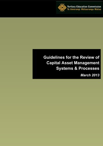 Guidelines for the Review of Capital Asset Management Systems ...