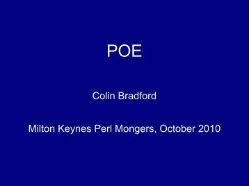An introduction to writing web servers with POE - Milton Keynes Perl ...