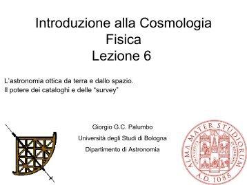 Introduzione alla Cosmologia Fisica Lezione 6 - STOQ