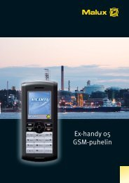 Ex-handy 05 GSM-puhelin - Malux Finland Oy