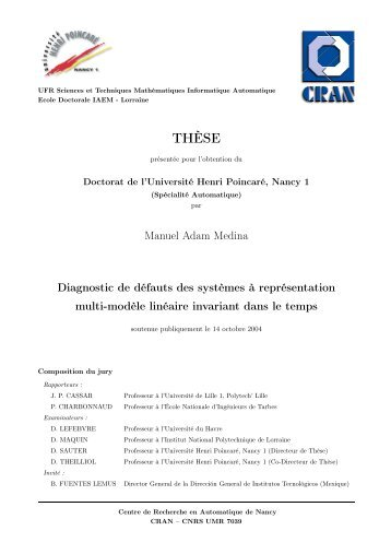 Diagnostic de défauts des systèmes à représentation multi-modèles ...