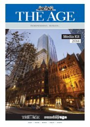 The Age Media Kit - Fairfax Media Adcentre