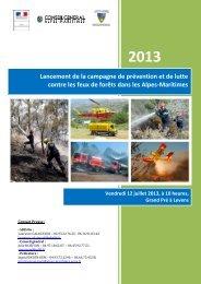 Lancement de la campagne feux de forêts à Levens - SDIS 06