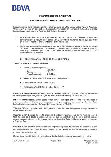 Condiciones del contrato multicanal bbva for Oficinas targobank