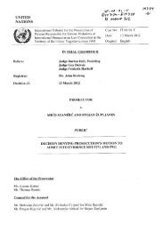 Decision denying prosecution's motion to admit into evidence ... - ICTY