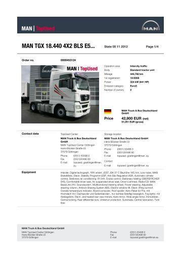 MAN TGX 18.440 4X2 BLS E5... - MAN TopUsed