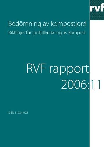 riktlinjer för jordtillverkning av kompost - Avfall Sverige