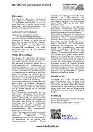 Berufliches Gymnasium Technik www.bbs2celle.de - BBS-Portal