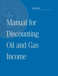 Manual for Discounting Oil and Gas Income - Texas Comptroller of ...
