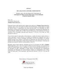 Relatório da Auditoria Independente - TELEST