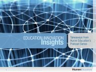 Education Innovation Insights - Huron Consulting Group