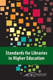 Standards for Libraries in Higher Education - American Library ...