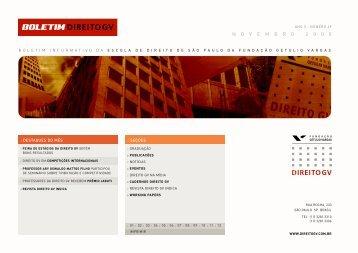 Novembro 2008 - Escola de Direito de São Paulo