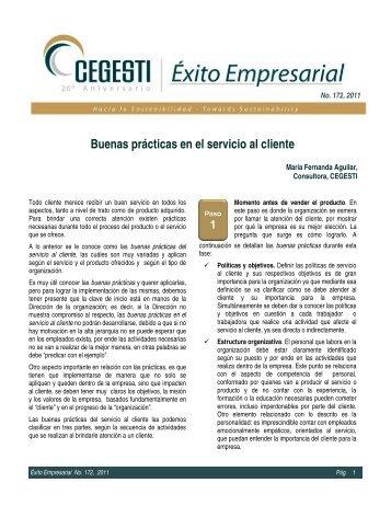 Buenas prácticas en el servicio al cliente - Cegesti