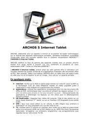 ARCHOS 5 Internet Tablet - Ais-info.fr