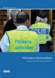 Rapport - Brottsförebyggande rådet