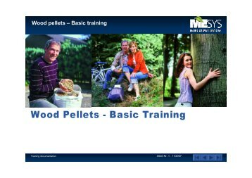 Wood pellets – Basic training - Maine Energy Systems