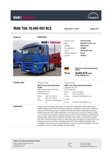 MAN TGA 18.440 4X2 BLS - MAN TopUsed