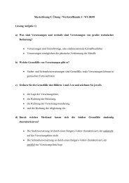 Musterlösung 9. Übung / Werkstoffkunde I / WS 08/09 Lösung ...