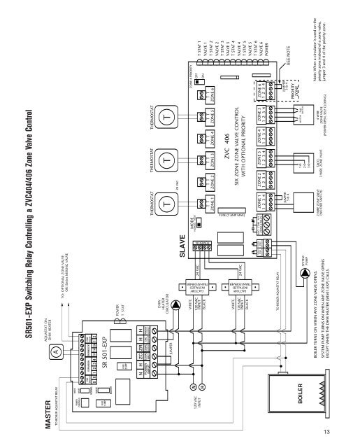 taco zone control expandable wiring diagram  taco 4 zone wiring