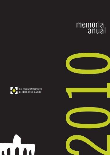 memoria anual - Colegio de Mediadores de Seguros de Madrid