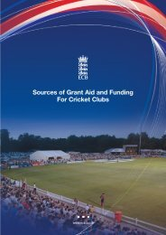 Sources of Grant Aid and Funding For Cricket Clubs - Ecb - England ...
