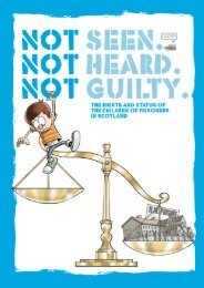Not Seen. Not Heard. Not Guilty report - Scotland's Commissioner ...