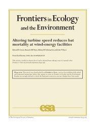 Arnett et. al - Bats and Wind Energy Cooperative