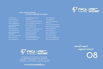 Rapport annuel - YWCA Canada