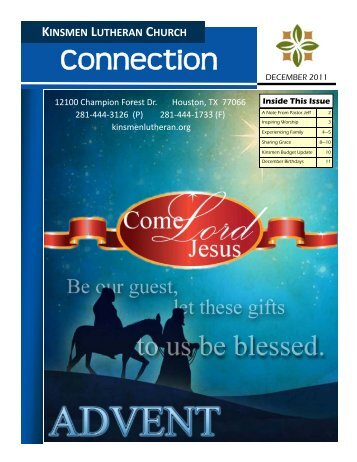 DEC Connection 2011 - Kinsmen Lutheran Church
