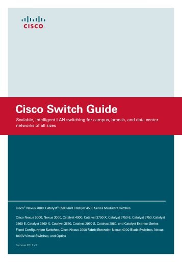 Cisco Catalyst Switch Guide - A-TRAC