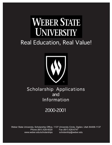 download the application - Departments - Weber State University