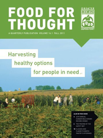 Harvesting for people in need p. 4 healthy options - Greater Chicago ...