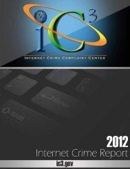IC3 2012 Report - Internet Crime Complaint Center